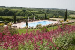 piscina e fiori